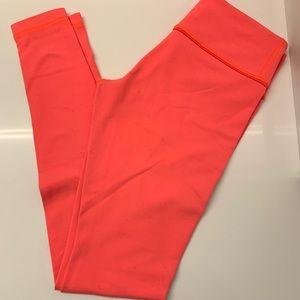 Coral Lululemon Leggings Size 6
